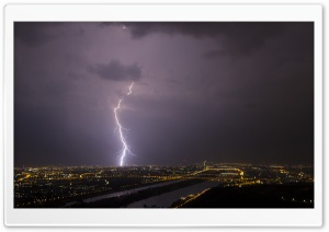 Lightning, Vienna HD Wide Wallpaper for Widescreen