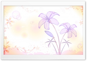 Lilies Illustration HD Wide Wallpaper for Widescreen