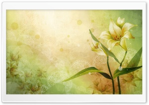 Lily Art HD Wide Wallpaper for Widescreen