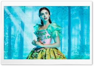 Lily Collins as Snow White HD Wide Wallpaper for Widescreen