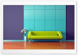 Lime Green Couch HD Wide Wallpaper for Widescreen