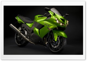Lime Kawasaki HD Wide Wallpaper for Widescreen