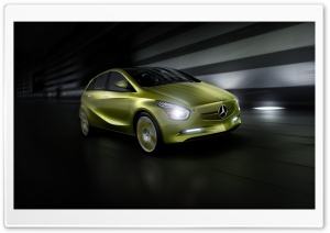 Lime Mercedes Benz e Cell Concept HD Wide Wallpaper for Widescreen