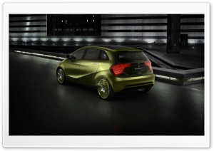 Lime Mercedes Benz e Cell Concept 1 HD Wide Wallpaper for Widescreen