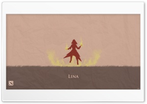 Lina - DotA 2 HD Wide Wallpaper for Widescreen