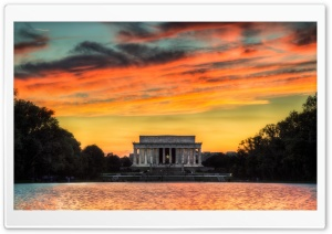 Lincoln Memorial Sunset HD Wide Wallpaper for Widescreen