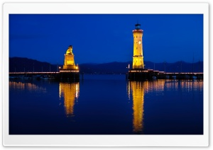 Lindau Lake Night HD Wide Wallpaper for 4K UHD Widescreen desktop & smartphone