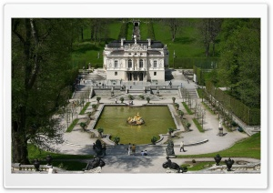 Linderhof Castle, Germany HD Wide Wallpaper for Widescreen