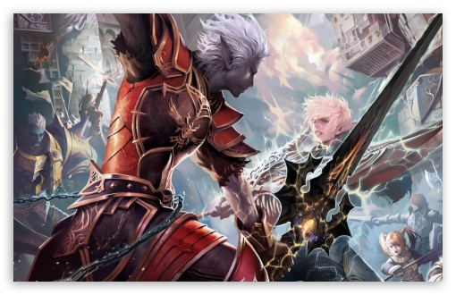 Lineage II   The Chaotic Throne HD wallpaper for Wide 16:10 5:3 Widescreen WHXGA WQXGA WUXGA WXGA WGA ; HD 16:9 High Definition WQHD QWXGA 1080p 900p 720p QHD nHD ; Standard 3:2 Fullscreen DVGA HVGA HQVGA devices ( Apple PowerBook G4 iPhone 4 3G 3GS iPod Touch ) ; Mobile 5:3 3:2 16:9 - WGA DVGA HVGA HQVGA devices ( Apple PowerBook G4 iPhone 4 3G 3GS iPod Touch ) WQHD QWXGA 1080p 900p 720p QHD nHD ;