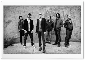 Linkin Park Black And White HD Wide Wallpaper for Widescreen