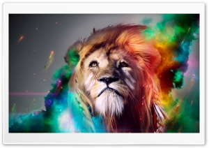 Lion Abstract HD Wide Wallpaper for 4K UHD Widescreen desktop & smartphone