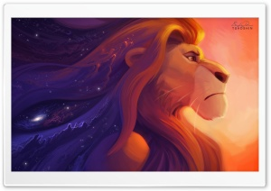 Lion King Painting HD Wide Wallpaper for Widescreen