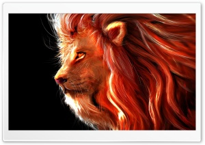 Lion Painting Ultra HD Wallpaper for 4K UHD Widescreen desktop, tablet & smartphone