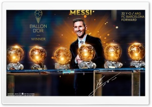 LIONEL MESSI FIFA BALLON DOR WINNER 2019 Ultra HD Wallpaper for 4K UHD Widescreen desktop, tablet & smartphone