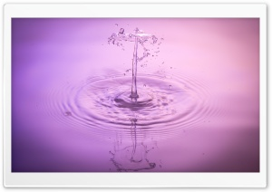 Liquid Droplet HD Wide Wallpaper for Widescreen