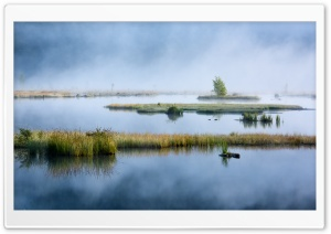 Lispach Lake, Mist, Nature HD Wide Wallpaper for 4K UHD Widescreen desktop & smartphone