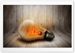 Lit Bulb HD Wide Wallpaper for Widescreen