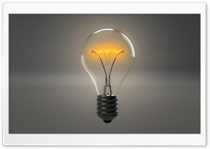 Lit Light Bulb HD Wide Wallpaper for Widescreen
