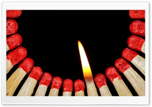 Lit Matches HD Wide Wallpaper for Widescreen