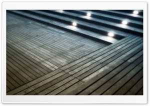 Lit Stairs HD Wide Wallpaper for Widescreen