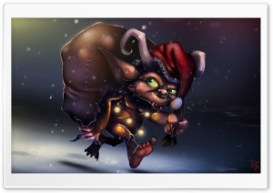 Little Christmas Prowler HD Wide Wallpaper for Widescreen