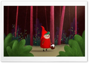 Little Red Riding Hood Illustration HD Wide Wallpaper for Widescreen