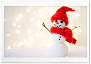 Little Snowman Christmas HD Wide Wallpaper for Widescreen