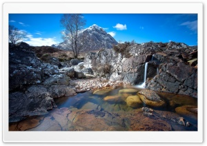 Little Waterfalls, Winter HD Wide Wallpaper for Widescreen