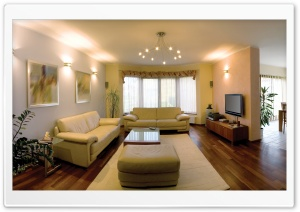 Living Room With Tv HD Wide Wallpaper for Widescreen