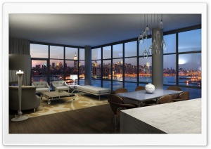 Livingroom With A Nice View HD Wide Wallpaper for Widescreen