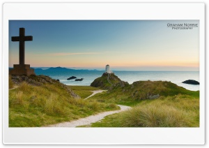 LLanddwyn Island Lighthouse HD Wide Wallpaper for Widescreen