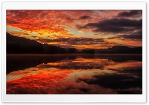 Loch Achray Sunrise HD Wide Wallpaper for Widescreen
