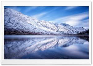 Loch Achtriochtan, Winter HD Wide Wallpaper for 4K UHD Widescreen desktop & smartphone