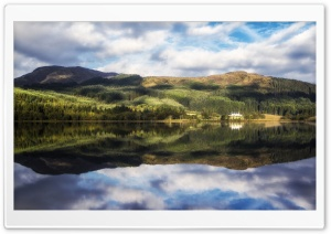 Loch Chon, Trossachs, Scotland HD Wide Wallpaper for 4K UHD Widescreen desktop & smartphone