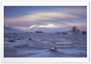 Lochan na h Achlaise Frozen Lake HD Wide Wallpaper for Widescreen