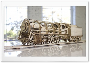 Locomotive with tender UGEARS 460 HD Wide Wallpaper for 4K UHD Widescreen desktop & smartphone