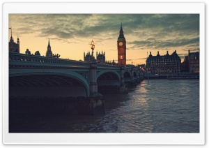 London At Dusk HD Wide Wallpaper for Widescreen