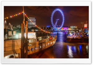 London At Night, HDR HD Wide Wallpaper for 4K UHD Widescreen desktop & smartphone