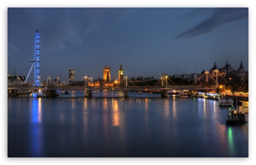 London At Night Panorama ❤ 4K UHD Wallpaper for Wide 16:10 Widescreen WHXGA WQXGA WUXGA WXGA ; Dual 16:10 16:9 WHXGA WQXGA WUXGA WXGA 2160p 1440p 1080p 900p 720p ;