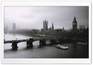 London Black And White HD Wide Wallpaper for Widescreen