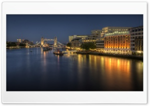 London Bridge Hospital At Night HD Wide Wallpaper for 4K UHD Widescreen desktop & smartphone