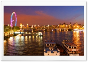 London Eye HD Wide Wallpaper for 4K UHD Widescreen desktop & smartphone