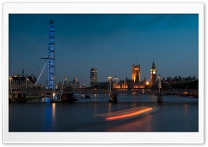 London Eye And Big Ben HD Wide Wallpaper for 4K UHD Widescreen desktop & smartphone