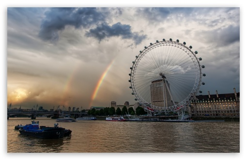 London Eye And Rainbows HD wallpaper for Wide 16:10 5:3 Widescreen WHXGA WQXGA WUXGA WXGA WGA ; HD 16:9 High Definition WQHD QWXGA 1080p 900p 720p QHD nHD ; UHD 16:9 WQHD QWXGA 1080p 900p 720p QHD nHD ; Standard 4:3 5:4 3:2 Fullscreen UXGA XGA SVGA QSXGA SXGA DVGA HVGA HQVGA devices ( Apple PowerBook G4 iPhone 4 3G 3GS iPod Touch ) ; Tablet 1:1 ; iPad 1/2/Mini ; Mobile 4:3 5:3 3:2 5:4 - UXGA XGA SVGA WGA DVGA HVGA HQVGA devices ( Apple PowerBook G4 iPhone 4 3G 3GS iPod Touch ) QSXGA SXGA ;