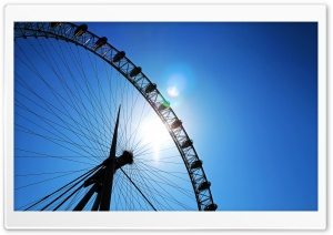 London Eye Lense flare HD Wide Wallpaper for Widescreen
