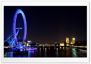 London Eye, London UK HD Wide Wallpaper for Widescreen