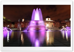 London Fountain HD Wide Wallpaper for Widescreen