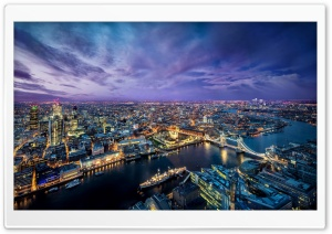 London Night HD Wide Wallpaper for Widescreen