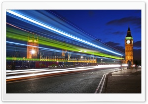 London Night Lights HD Wide Wallpaper for Widescreen