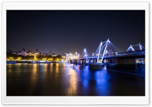 London Night Photography HD Wide Wallpaper for Widescreen